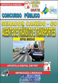 Apostila Digital SENADOR CANEDO/GO 2020 - Agente De Trânsito E Transportes