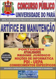 Apostila Impressa Concurso Universidade do Estado do Pará - UEPA 2019 Artífice em Manutenção