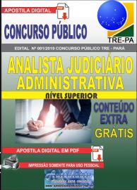Apostila Digital Concurso TRE-PA 2019 Analista Judiciário Área Administrativa