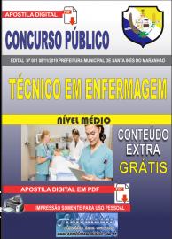 Apostila Digital Concurso Prefeitura Municipal de Santa Inês - Maranhão 2019 Técnico em Enfermagem