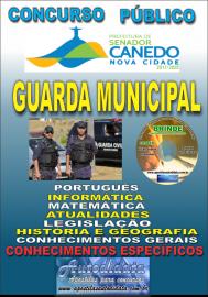 Apostila Impressa SENADOR CANEDO/GO 2020 - Guarda Municipal