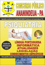 Apostila Impressa Concurso Público Prefeitura de Ananindeua - PA 2020 Área Psiquiatria