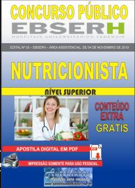 Apostila Digital Concurso EBSERH - 2019 Nutricionista