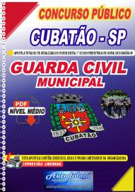 Apostila Digital Concurso Público Prefeitura de Cubatão - SP 2020 Guarda Civil Municipal