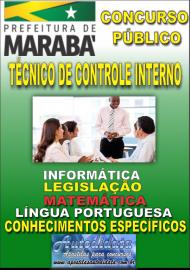 Apostila Impressa Concurso MARABÁ - PA 2018 - Técnico de Controle Interno