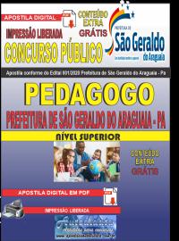 Apostila Digital Concurso Público Prefeitura Municipal de São Geraldo do Araguaia - PA 2020 Pedagogo