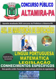 Apostila Impressa Concurso Prefeitura de Altamira - PA 2020 - Auxiliar De Manutenção De Edificações