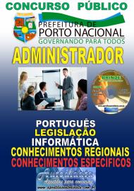 Apostila Impressa Concurso da Prefeitura de Porto Nacional - TO – 2019 - Administrador