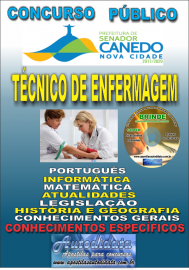 Apostila Impressa SENADOR CANEDO/GO 2020 - Assistente De Saúde/ Técnico De Enfermagem