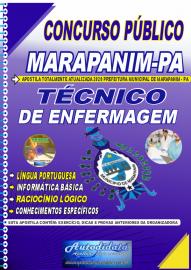 Apostila Impressa Concurso Público Prefeitura de Marapanim - PA 2020 Técnico de Enfermagem