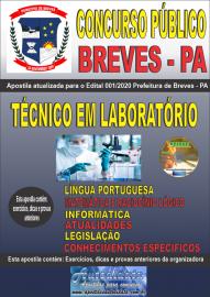 Apostila Impressa Concurso Público Prefeitura de Breves - PA 2020 Técnico em Laboratório