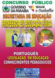 Apostila Impressa Concurso SEECT/PB - 2019 - Professor De Educação Física