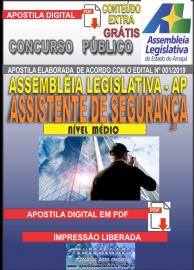 Apostila Digital Concurso ASSEMBLEIA LEGISLATIVA DO AMAPÁ - 2019 - Assistente De Segurança