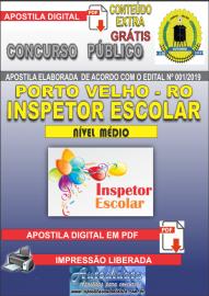 Apostila Digital Concurso de PORTO VELHO/RO 2019 – Inspetor Escolar