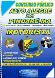 Apostila Impressa Concurso Público Alto Alegre do Pindaré - MA 2020 Motorista