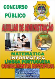 Apostila Impressa Processo Seletivo de URUARÁ/PA 2019 – Auxiliar De Administração