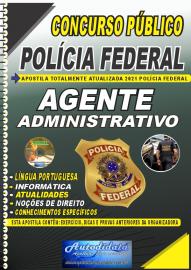 Apostila Impressa Concurso Público Polícia Federal - Nacional 2021 Agente Administrativo