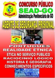 Apostila impressa concurso da SEAD-GO 2019 - AGENTE DE SEGURANÇA PRISIONAL