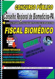 Apostila digital Concurso CRBM -CONSELHO REGIONAL DE BIOMEDICINA - 4ª REGIÃO 2021 - FISCAL BIOMÉDICO