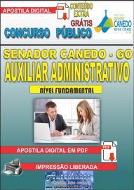 Apostila Digital SENADOR CANEDO/GO 2020 - Auxiliar Administrativo