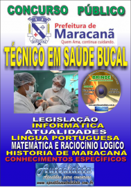 Apostila Impressa Concurso de Maracanã/Pa 2019 – Técnico Em Saúde Bucal