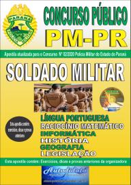 Apostila Impressa Concurso Público Polícia Militar do Paraná 2020 Soldado Militar