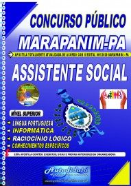 Apostila impressa concurso Marapanim - PA 2020 ASSISTENTE SOCIAL