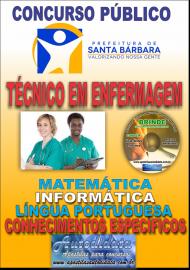 Apostila Impressa Concurso SANTA BÁRBARA - PA 2019 - Técnico em Enfermagem