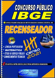 Apostila impressa concurso do IBGE 2021 - Instituto Brasileiro de Geografia e Estatística - RECENSEADOR