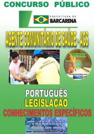 Apostila Impressa Concurso PREFEITURA MUNICIPAL DE BARCARENA - PA - 2019 - Agente Comunitário De Saúde - ACS