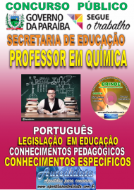 Apostila Impressa Concurso SEECT/PB - 2019 - Professor De Química