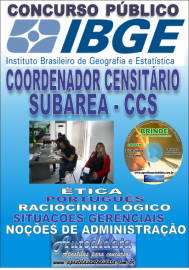 Apostila Impressa concurso IBGE 2019 –  COORDENADOR CENSITÁRIO SUBÁREA
