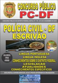 Apostila impressa concurso da PC-DF Distrito Federal 2020 - Escrivão de Polícia
