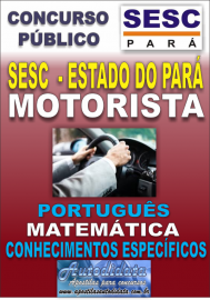Apostila concurso do SESC Estado do Par� - 2016 - MOTORISTA