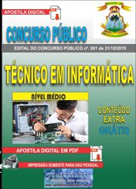 Apostila Digital Concurso - Prefeitura Municipal de Imperatriz - MA 2019 - Técnico em Informática