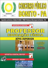 Apostila Digital Concurso Público Prefeitura de Bonito - PA 2020 Professor de Educação Física