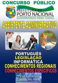 Apostila Impressa Concurso da Prefeitura de Porto Nacional - TO – 2019 - Assistente Administrativo