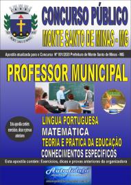 Apostila Impressa Concurso Público Monte Santo de Minas - MG 2020 Professor Municipal