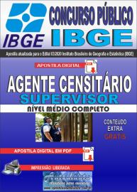 Apostila Digital Concurso Público Instituto Brasileiro de Geografia e Estatística (IBGE) 2020 Agente Censitário Supervisor (ACS)