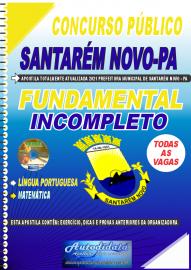 Apostila Impressa Concurso Público Prefeitura de Santarém Novo - PA 2021 Fundamental Incompleto