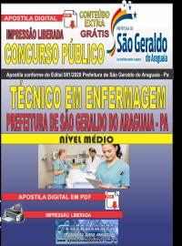 Apostila Digital Concurso Público Prefeitura Municipal de São Geraldo do Araguaia - PA 2020 Técnico em Enfermagem