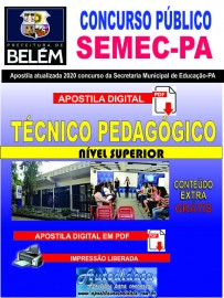 Apostila digital Concurso da SEMEC - PA 2020 - Técnico Pedagógico