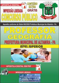 Apostila Digital Concurso Público Prefeitura de Altamira 2020 Área Professor de Geografia