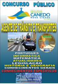 Apostila Impressa SENADOR CANEDO/GO 2020 - Agente De Trânsito E Transportes