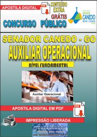 Apostila Digital SENADOR CANEDO/GO 2020 - Auxiliar Operacional