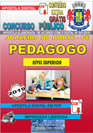 Apostila Digital Concurso JUAZEIRO DO NORTE - CE - 2019 - Pedagogo