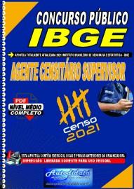 Apostila digital concurso do IBGE em PDF 2021 - AGENTE CENSITÁRIO SUPERVISOR (ACS).