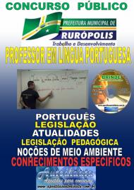 Apostila Impressa Concurso PREFEITURA MUNICIPAL DE RURÓPOLIS - PA - 2019 - Professor Licenciado Pleno Em Letras – (Língua Portuguesa)