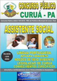 Apostila Impressa Concurso Público Prefeitura Municipal de Curuá - Pará 2019 Assistente Social