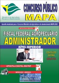 Apostila Digital Concurso Público do MAPA - 2020 Fiscal Federal Agropecuário - Administrador